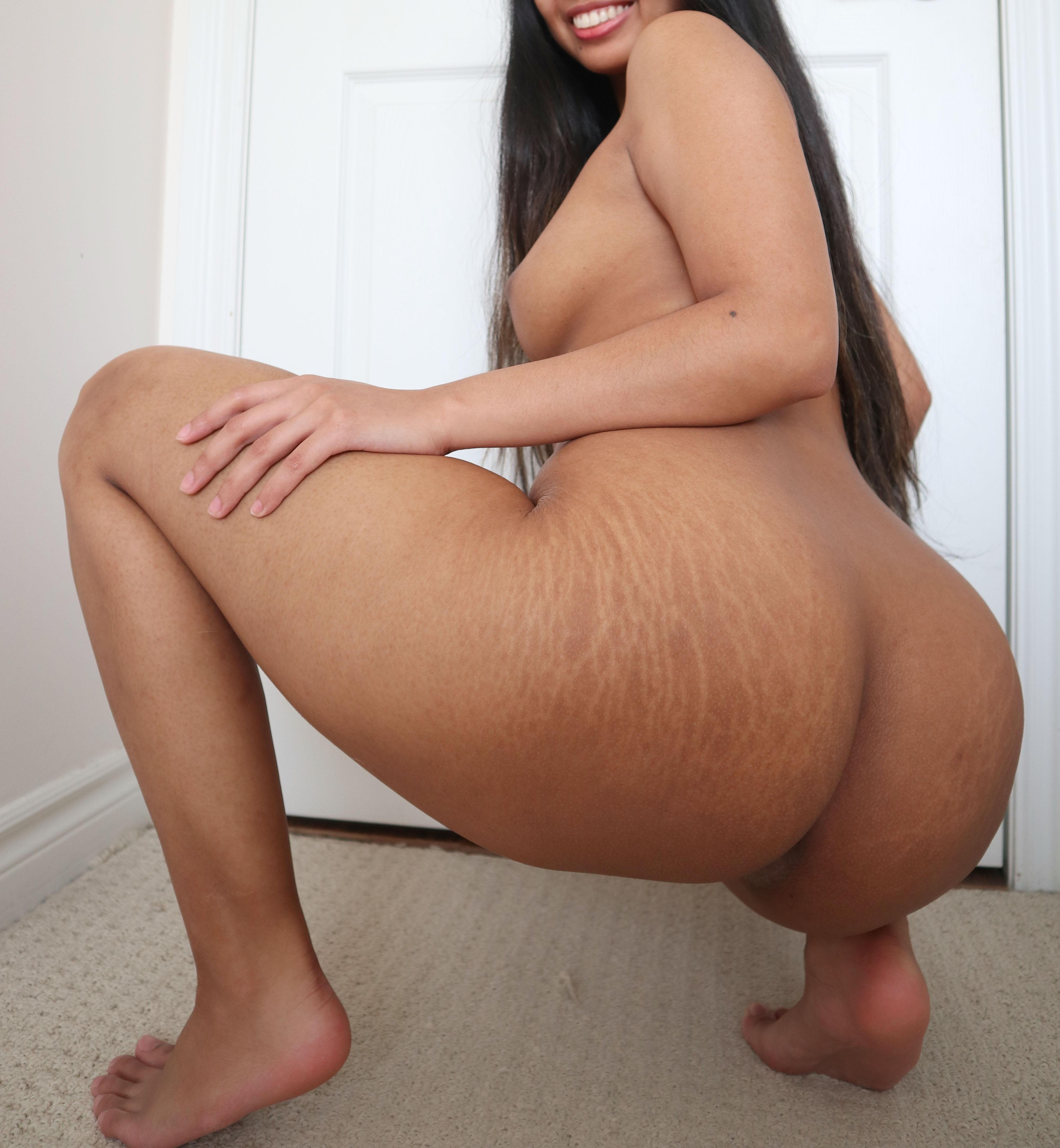 One of our naked asian pics called Do you have something for me to bounce my fat filipina ass on?