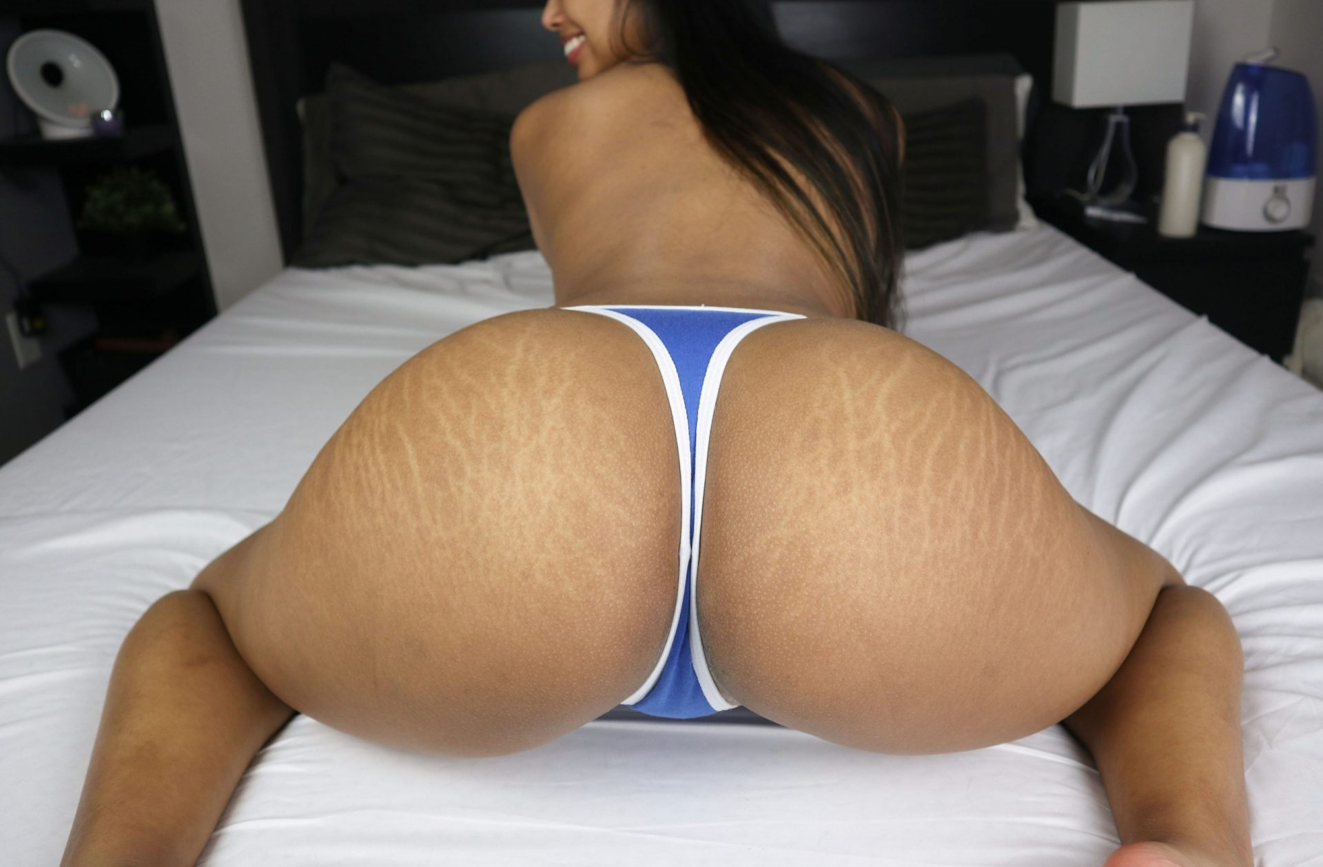 My fat filipina ass is covered in tiger stripes… Would you still pull my panties aside?