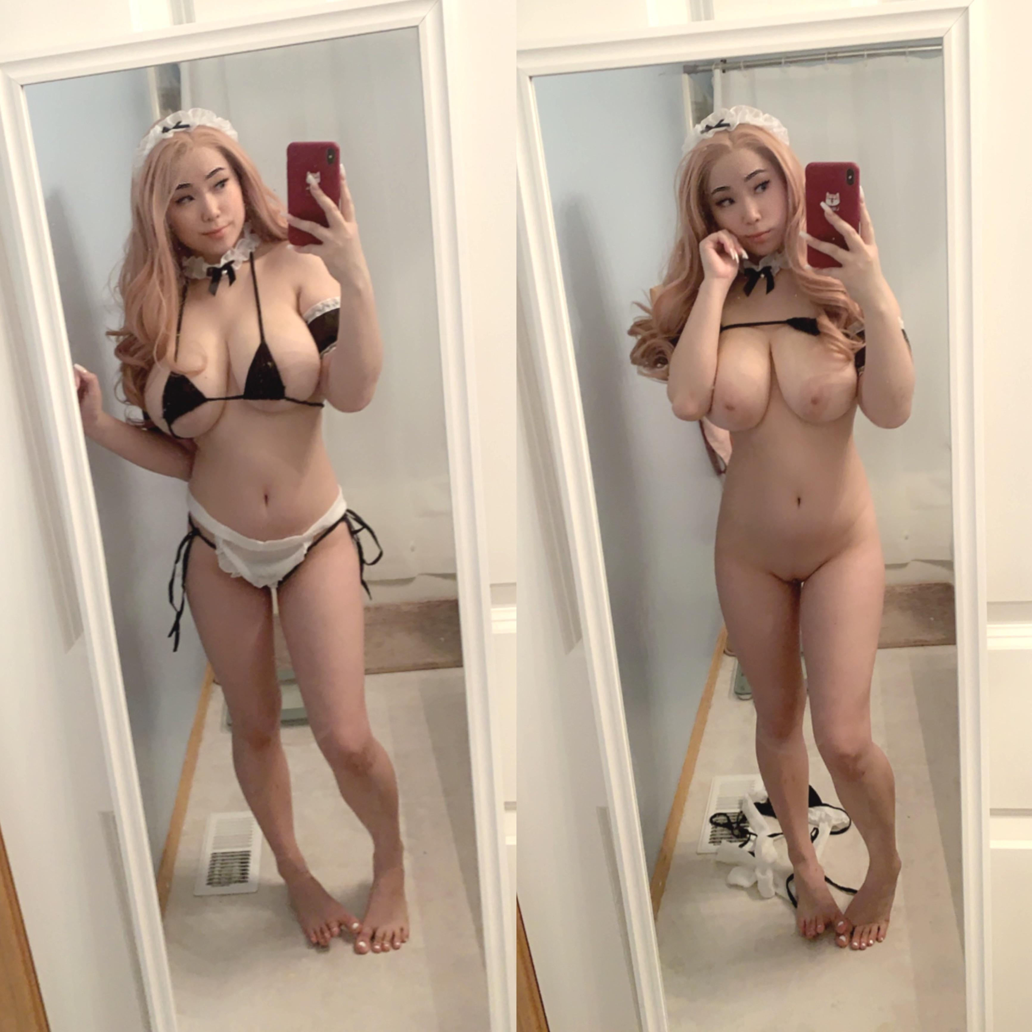 One of our naked asian pics called Let me empty and clean your balls [18 OC]