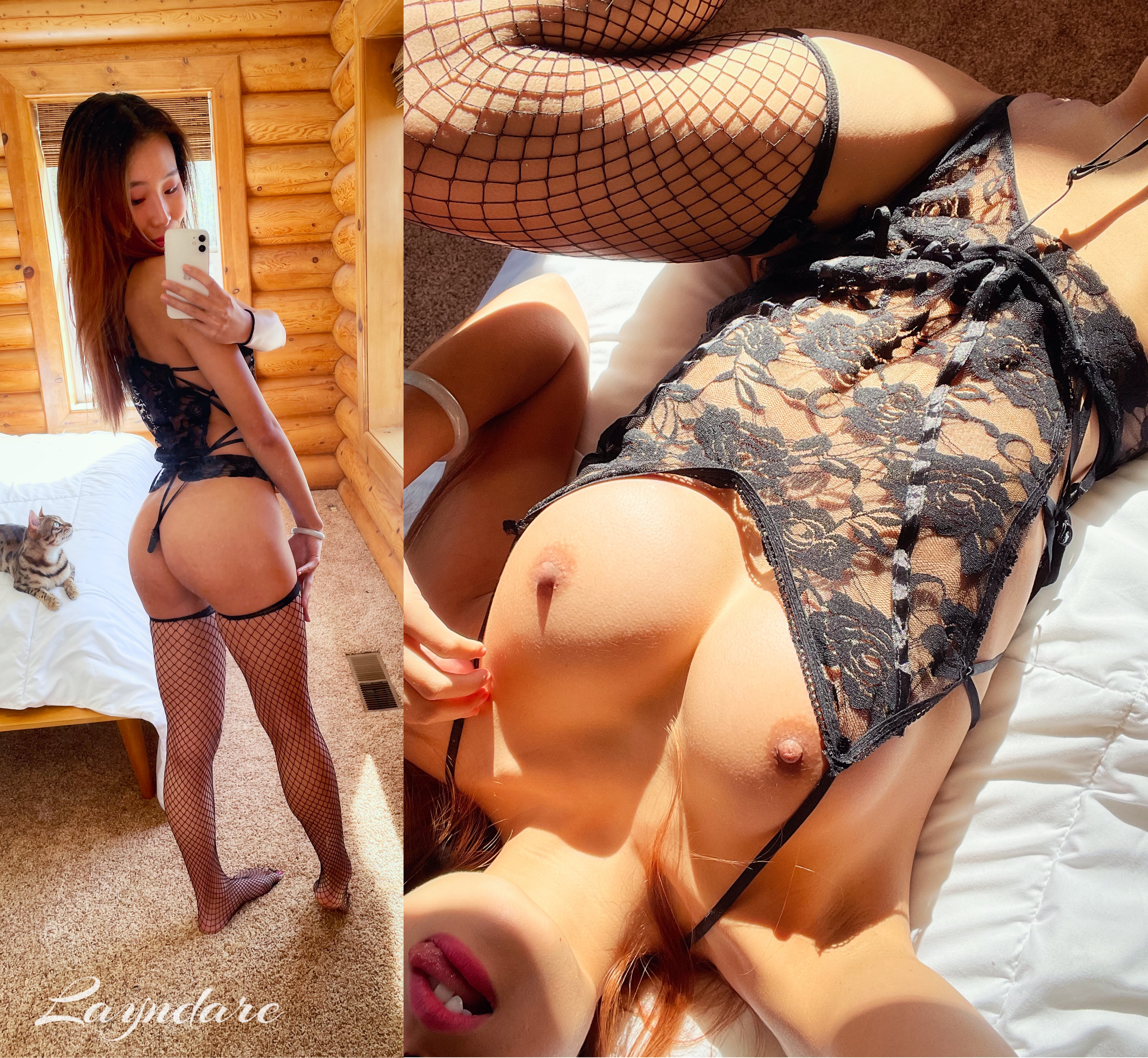 One of our naked asian pics called Hope you like starting off your mornings with a naughty on/off!