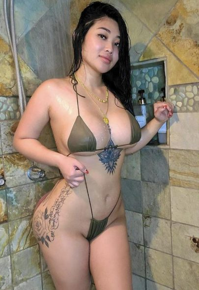 One of our naked asian pics called Could I be your first Asian fuck 😈🥰