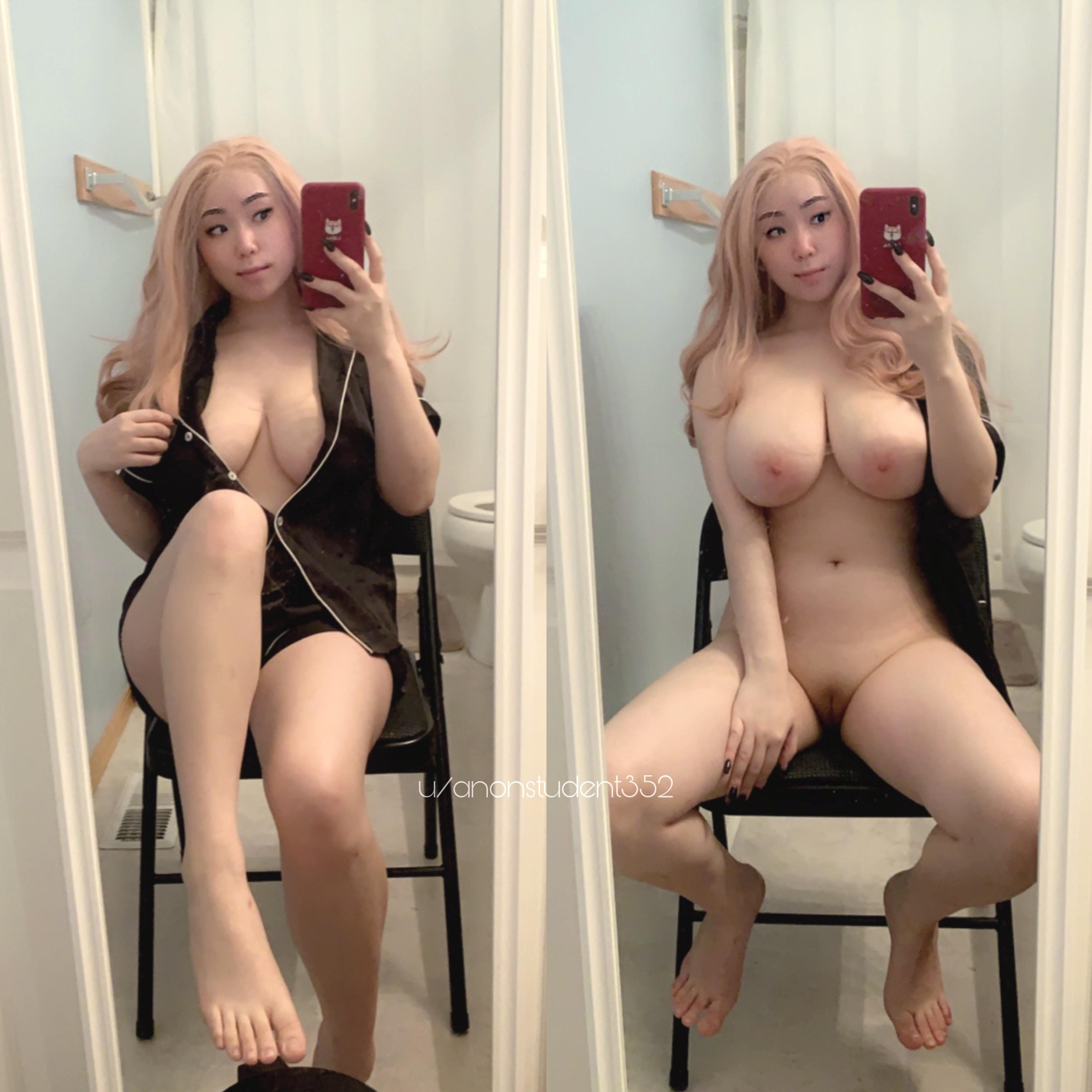 One of our naked asian pics called Would you come cuddle with me? [18 OC]
