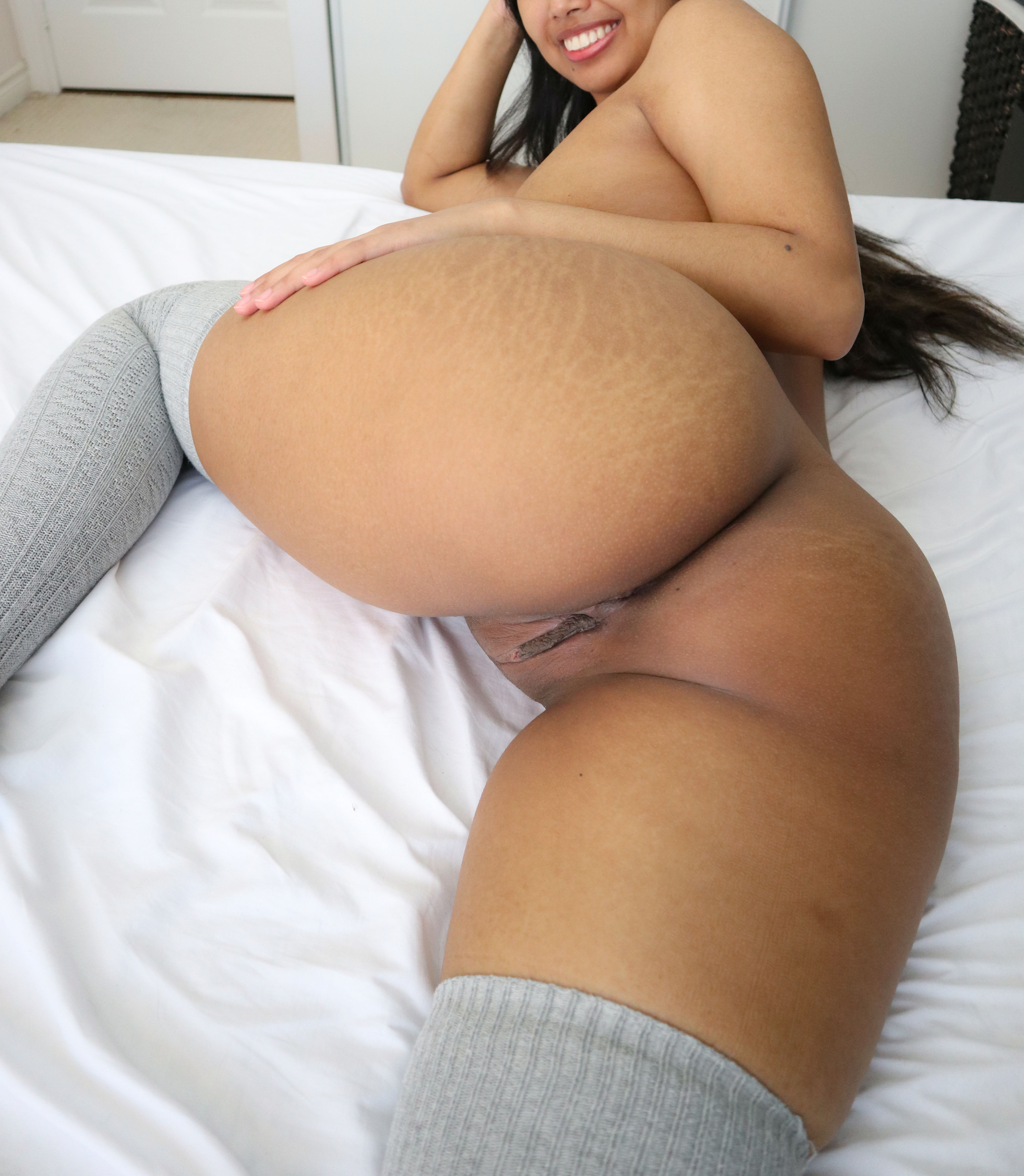 One of our naked asian pics called My fat filipina ass is covered in tiger stripes, would you still fuck me?