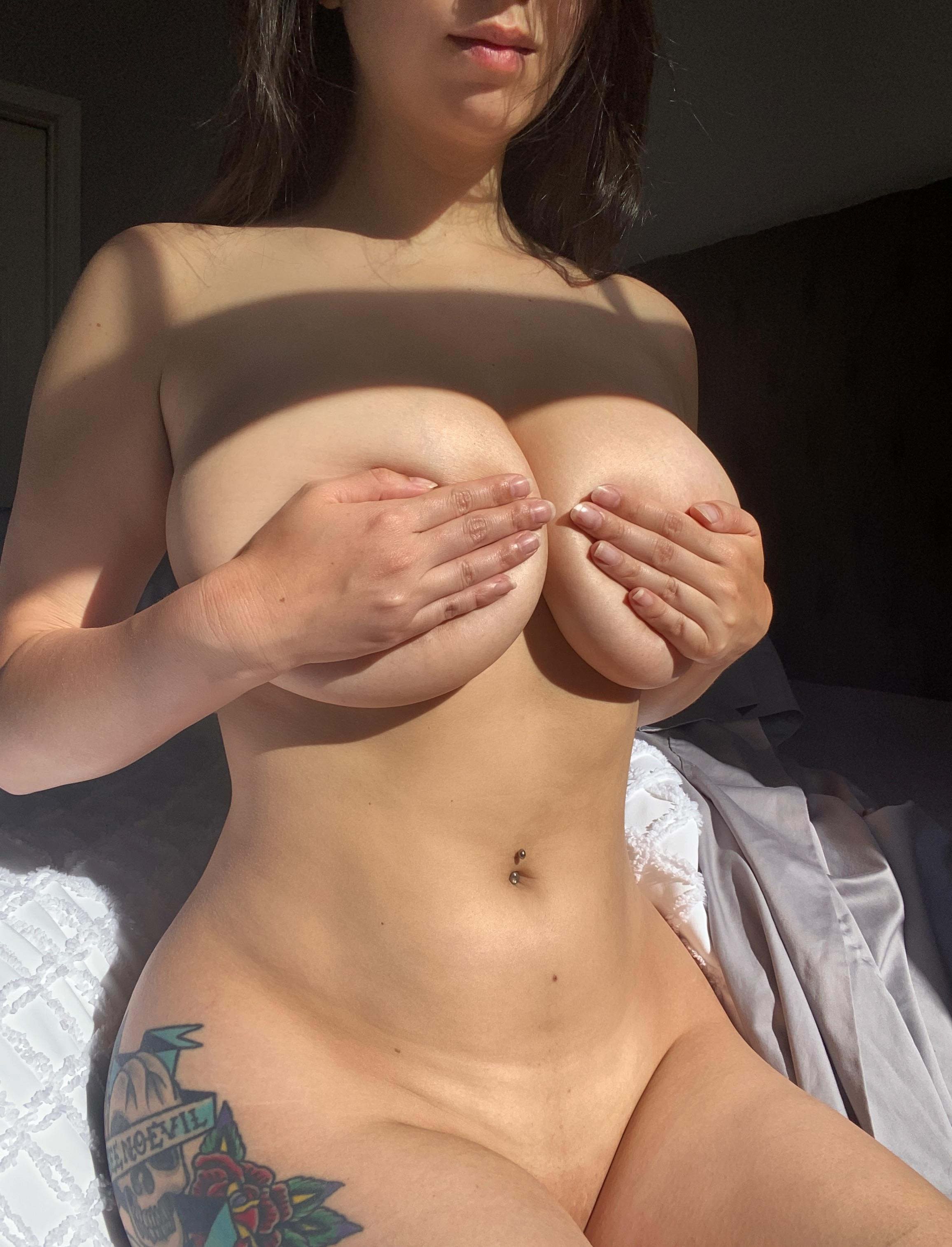 One of our naked asian pics called Which part of me are you cumming on first?