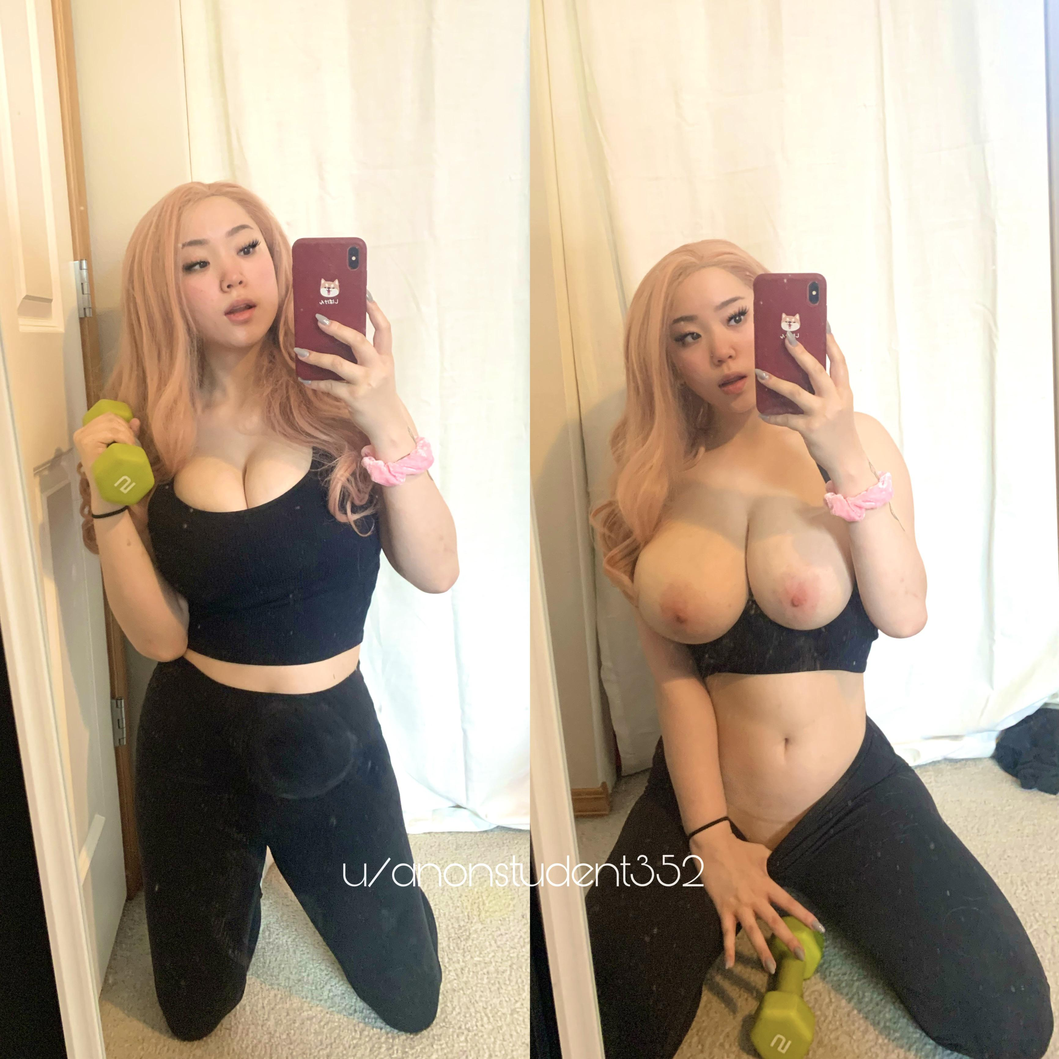 One of our naked asian pics called What would you do to me if you saw me at the gym?