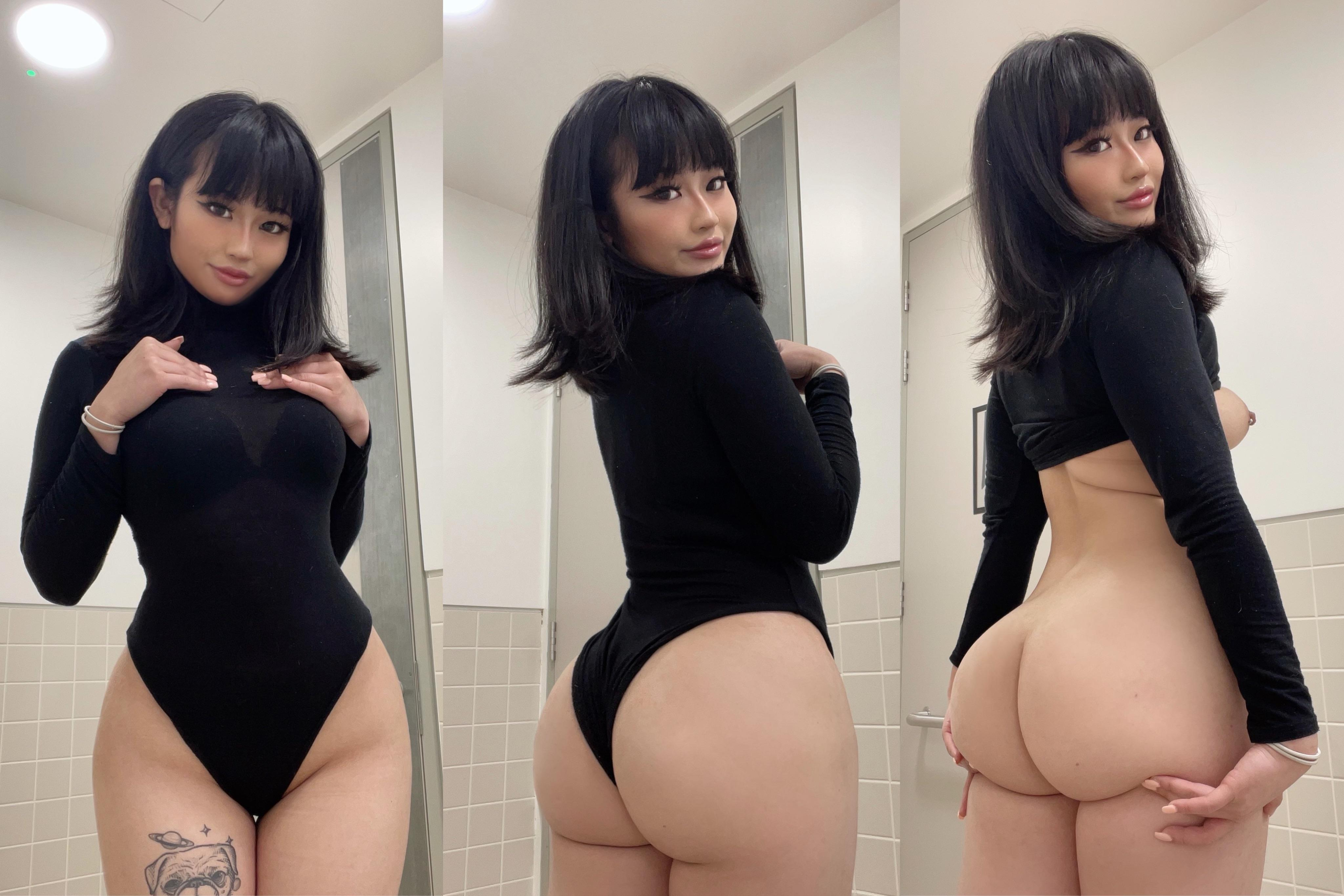 One of our naked asian pics called Am I juicy enough for your dick?