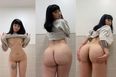 One of our naked asian pics called Do you like cute tits and fat ass combo?