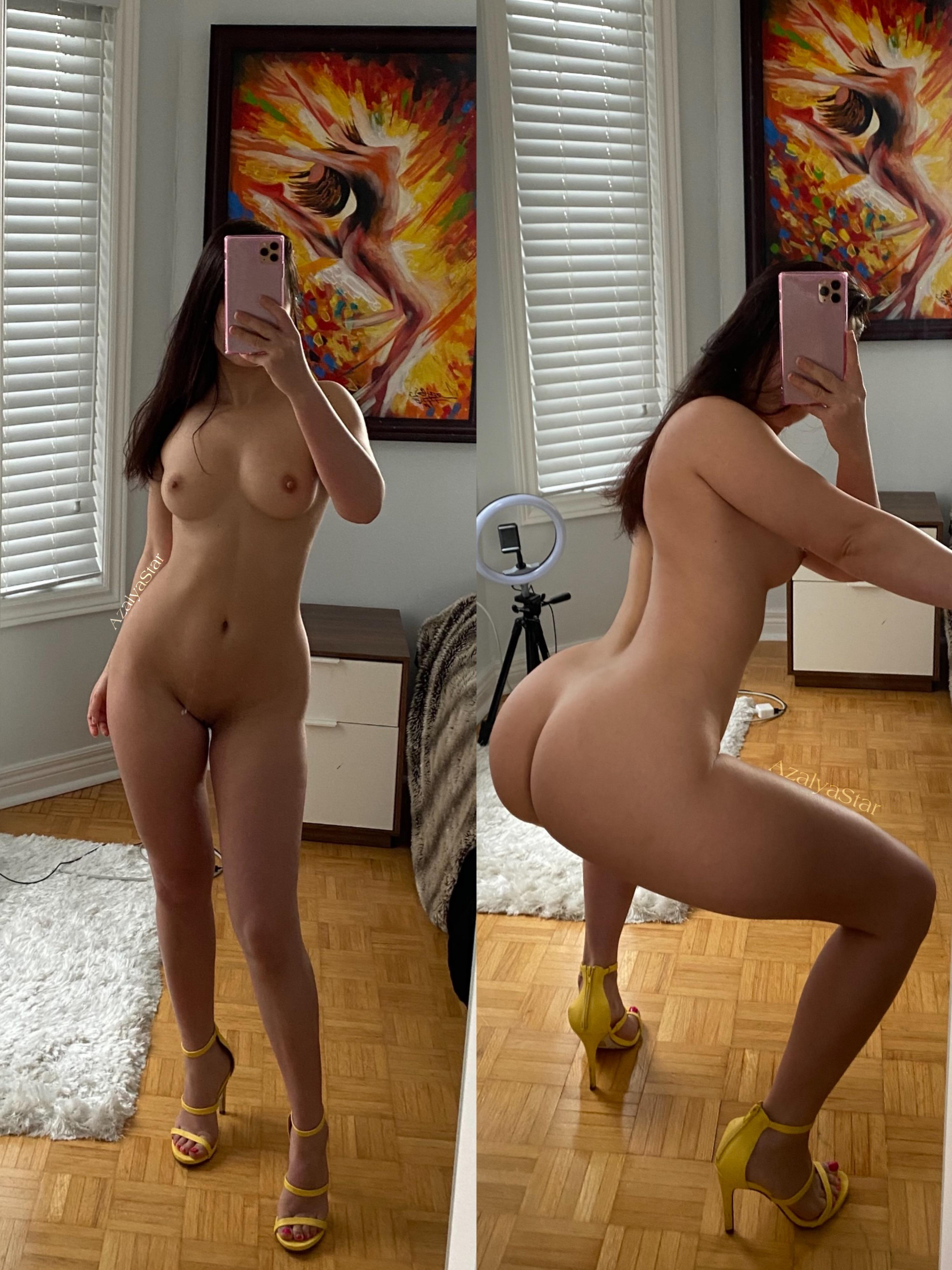 One of our naked asian pics called Ever fucked a petite Asian w a big ass?