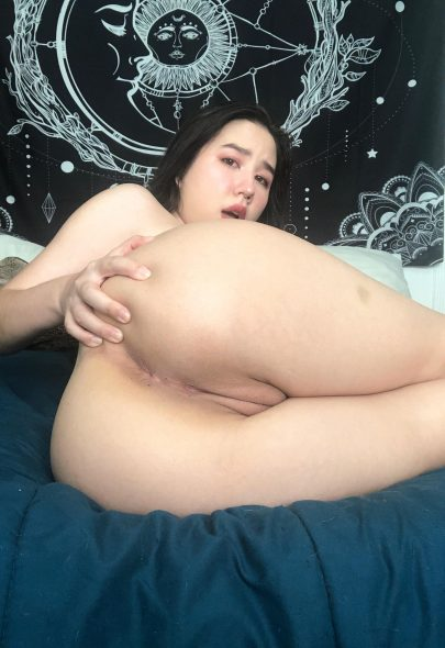 One of our naked asian pics called fuck me in this position? 🥺